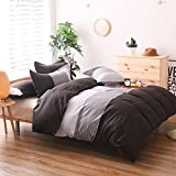 THEE 3 Piece Stripe Quilt Cover Bedding Duvet Cover Set