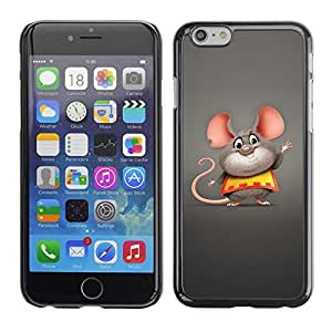 Be Good Phone Accessory // Dura Cáscara cubierta Protectora Caso Carcasa Funda de Protección para Apple Iphone 6 Plus 5.5 // Cute Funny Fat Mouse