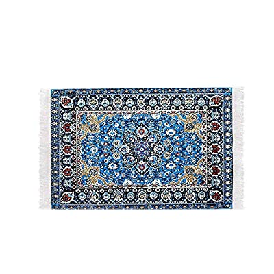 Small Mini Toy Miniature 1/12 Scale Turkish Woven Carpet Blanket Rug Dollhouse Accessories Toy-Starry Night: Toys & Games