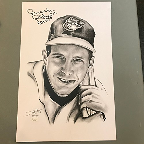 - Brooks Robinson Signed Autographed 12x18 Photo