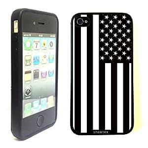 Shawnex Springink Black White Usa American Flag Thinshell Case Protective ip4 Case