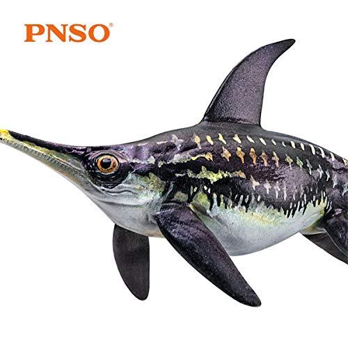 PNSO ユーリノサウルス 魚竜 爬虫類 恐竜 海洋動物 生物 魚類 リアル フィギュア PVC プラモデル おもちゃ 科学 芸術 模型 恐竜好きのこども 孫への誕生日 プレゼント プレミアム 18.6cm級 オリジナル インテリア 塗装済