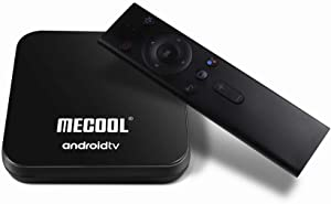 MECOOL KM9 Pro Google Certified The Real Android TV OS Android 10.0 DDR4 4GB RAM 32GB ROM con búsqueda por Voz Control Remoto Dual Band WiFi 2.4G 5G 4K UHD HDR HDCP 2.2 OTA Compatible