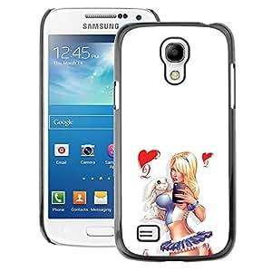 A-type Arte & diseño plástico duro Fundas Cover Cubre Hard Case Cover para Samsung Galaxy S4 Mini i9190 (NOT S4) (Sexy Sailor Chick White Legs Butt Heart)