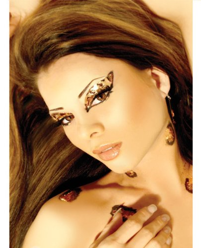 Cheetah Glitter Eye Art Kit -