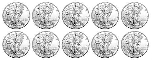 2014 Count of 10 - 2014 American Silver Eagles .999 Silver Brilliant Uncirculated