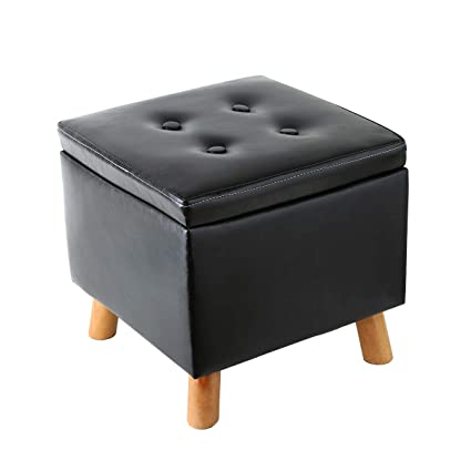 Exceptionnel Amazon.com: Eshow Ottoman With Storage Ottoman And Foot Stools Cube Leather  Pouf Shoe Bench Storage Square Storage Stool Decorative Seating: Kitchen U0026  ...