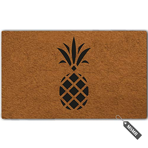 - MsMr Funny Door Mat Pineapple Decorative Indoor Outdoor Custom Doormat Non-Woven Fabric Home Office Welcome Mat 30