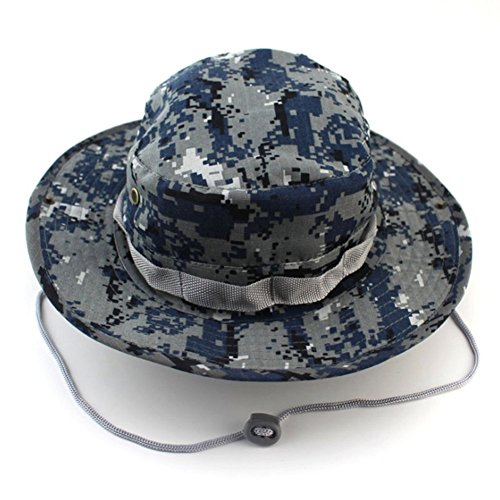 XIDAJE Fishing Snap Brim Military Bucket Sun Hat Cap Woodland Camo Alternative Color