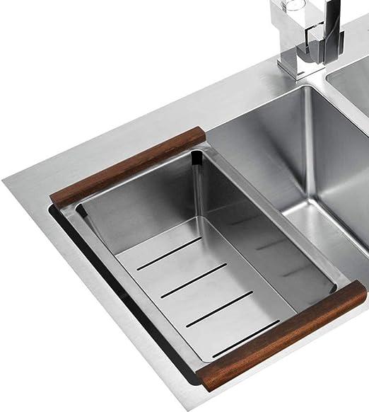BBG Estante para platos, Estante de desagüe para cocina doméstica Estante para platos Estante para fregadero de acero inoxidable (405 × 200 × 85Mm): Amazon.es: Bricolaje y herramientas