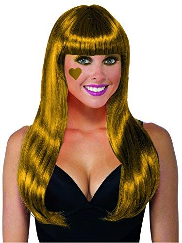 (Forum Novelties Color Line Long Wig W/Tinsel W, Gold)