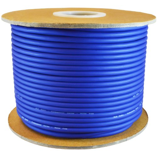 GLS AUDIO Bulk Microphone Cable 300' Blue Mic -300ft Signal mike cable (Audio Signal Cable)