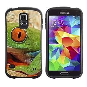 Suave TPU Caso Carcasa de Caucho Funda para Samsung Galaxy S5 SM-G900 / Frog Nature Eye Deep Equator / STRONG