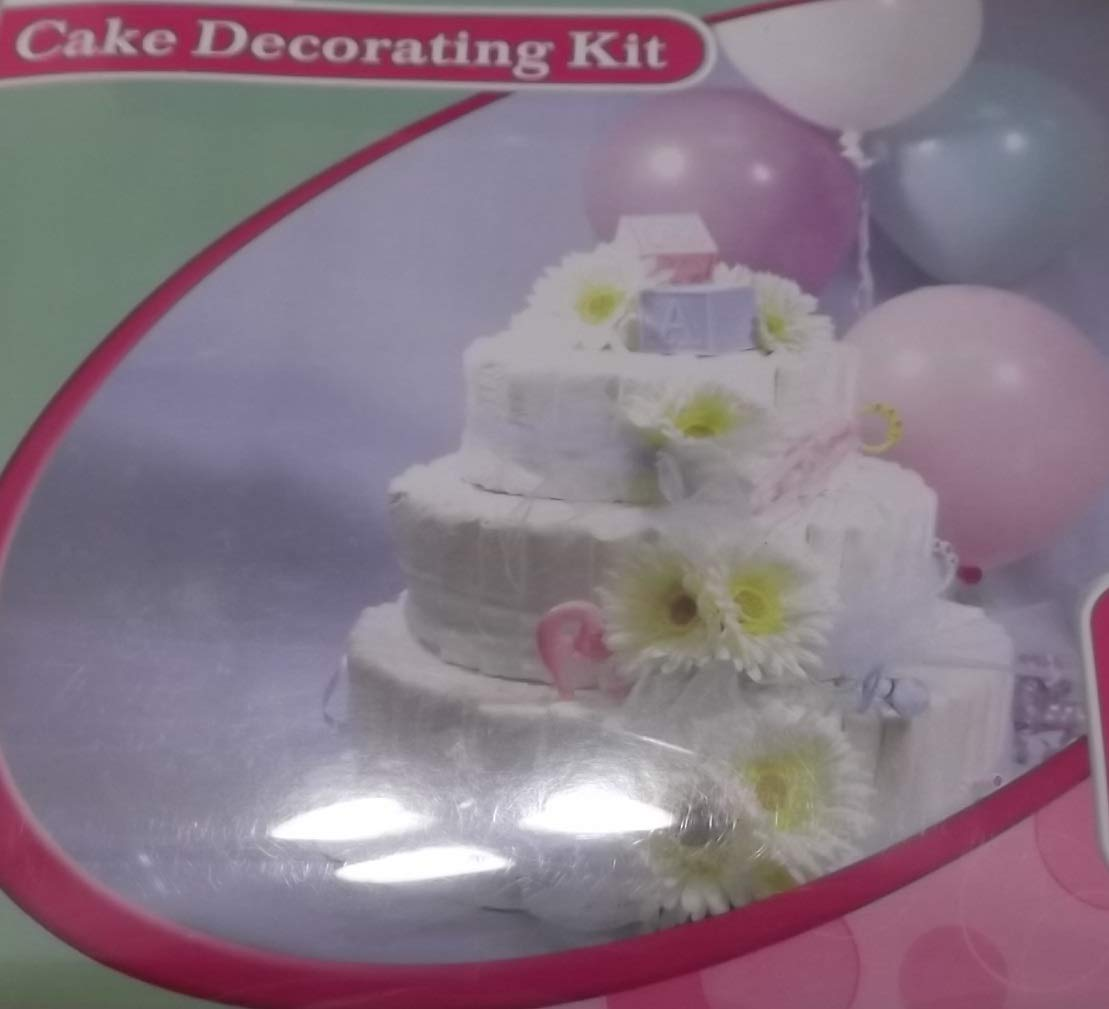 Amazon Com Baby Diaper Cake Centerpiece Decorating Kit Baby