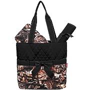 New Design Camo Quilted 3pcs Diaper Bag-black