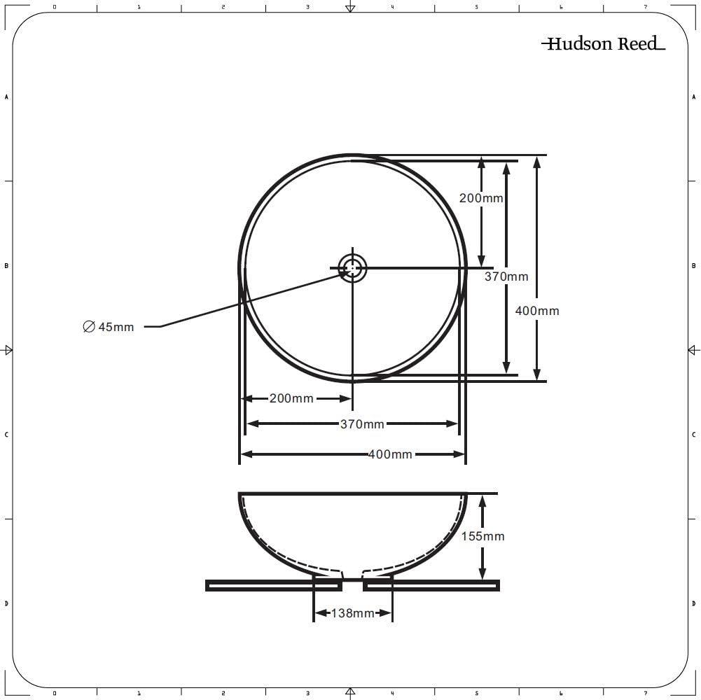 Vasque Ronde /à Poser /Ø40 CM Hudson Reed Gamme Ashbury