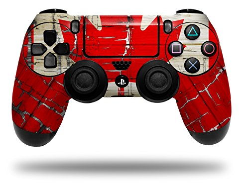 Vinyl Skin Wrap for Sony PS4 Dualshock Controller Painted Faded and Cracked Canadian Canada Flag (CONTROLLER NOT INCLUDED) (Controller Canada)
