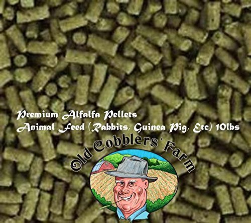 Premium Alfalfa Pellets Animal Feed (Rabbits, Guinea Pig, Etc) 5lbs. By Old Cobblers Farm