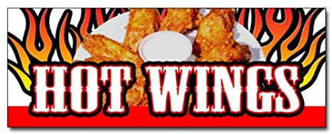 """Chicken Hot Wings Decal 12/"""" Restaurant Concession Food Truck Vinyl Sign Sticker"""