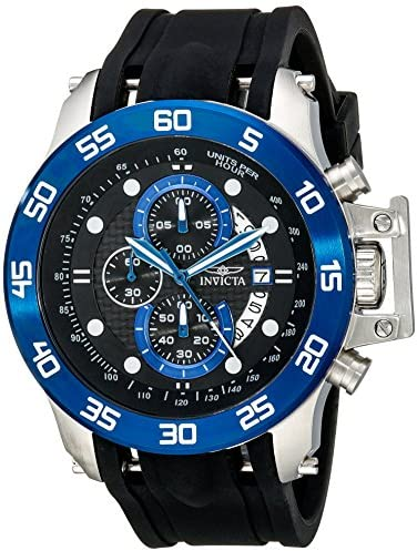 Invicta Men 19252 IForce Stainless Steel Watch With Black Synthetic Band