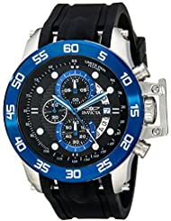 Invicta Mens 19252 I-Force Stainless Steel Watch With Black Synthetic Band