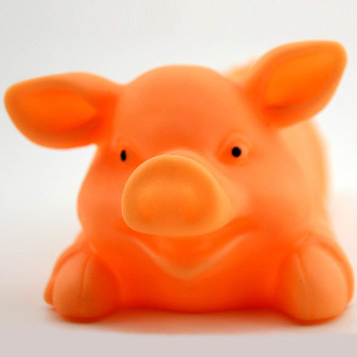 Romirofs Creative Dog Cat Chewing Toy Cute Pig Shaped Rubber Pet Dog Playing Pig Toy with Sound Squeaker Pet Supplies