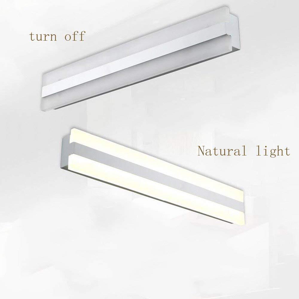 FXING Badezimmer LED-Spiegel vorne Leuchten Moderne malen Acryl Acryl Acryl wc Wand einfache Badezimmer Spiegelschrank antistatische LED Licht (43 cm-12 W, 52 cm-14 W) (Farbe  warmes Licht, Größe  43 cm-12 W) 244797