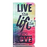 Note 5 Case,JanCalm [Perfect Fit][kickstand] NEW Pattern Premium Pu Leather Wallet [Card/Cash Slots] Protective Flip Cover for Samsung Galaxy Note 5 **Including- ONE Crystal(Live The Life You Love)