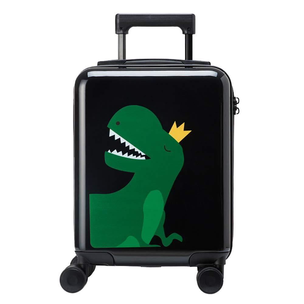 トロリーの荷物16インチの子供のスーツケース女性の小さな新鮮なスーツケースユニバーサルホイールのパスワードボックスのトロリーケース男性黒 B07KWHRJJR