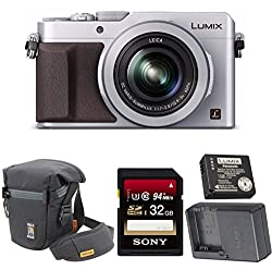 Panasonic Lumix Lx100 4k With Leica Lens (Silver) + Oem Panasonic Dmw-zstrv Travel Pack Battery & Charger