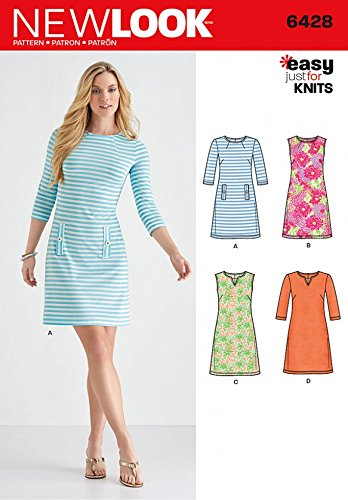 Amazon New Look Ladies Easy Sewing Pattern 6428 Just For Knits