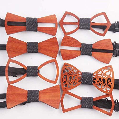 LAAT Noeud Papillon En Bois Homme,Nouvelle Mode N/œud Papillon Pour Soir/ée Businesse Mariage C/ér/émonie F/ête Costume Necktie 1Pcs