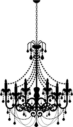 Old fashioned candle chandelier wall stickers wall art decal 02 old fashioned candle chandelier wall stickers wall art decal 02 vinyl sticker wall art deco mozeypictures Images