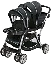 Graco Ready2Grow LX Double Stroller | Lightweight Double Stroller, Gotham