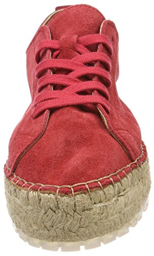 Shabbies Amsterdam Ladies Shabbies Espandrilles Lace-up Espadrillas Rosso (rosso)