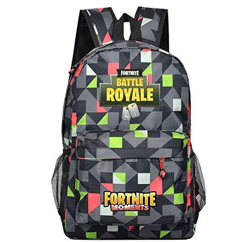 Battle Royale ゲーム 子供用 学校/アウトドア バックパック ブックバッグ (無料ギフト) fbck001  イエロー B07GFCK6JP