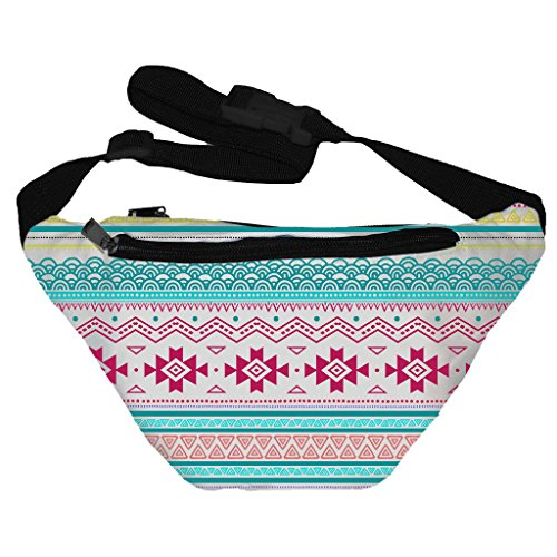 [Funny Guy Mugs Aztec Colorful Fanny Pack] (Easy Halloween Costume Ideas For Guys)