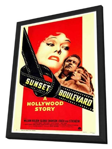 Amazon.com: Sunset Boulevard - 27 x 40 Framed Movie Poster ...