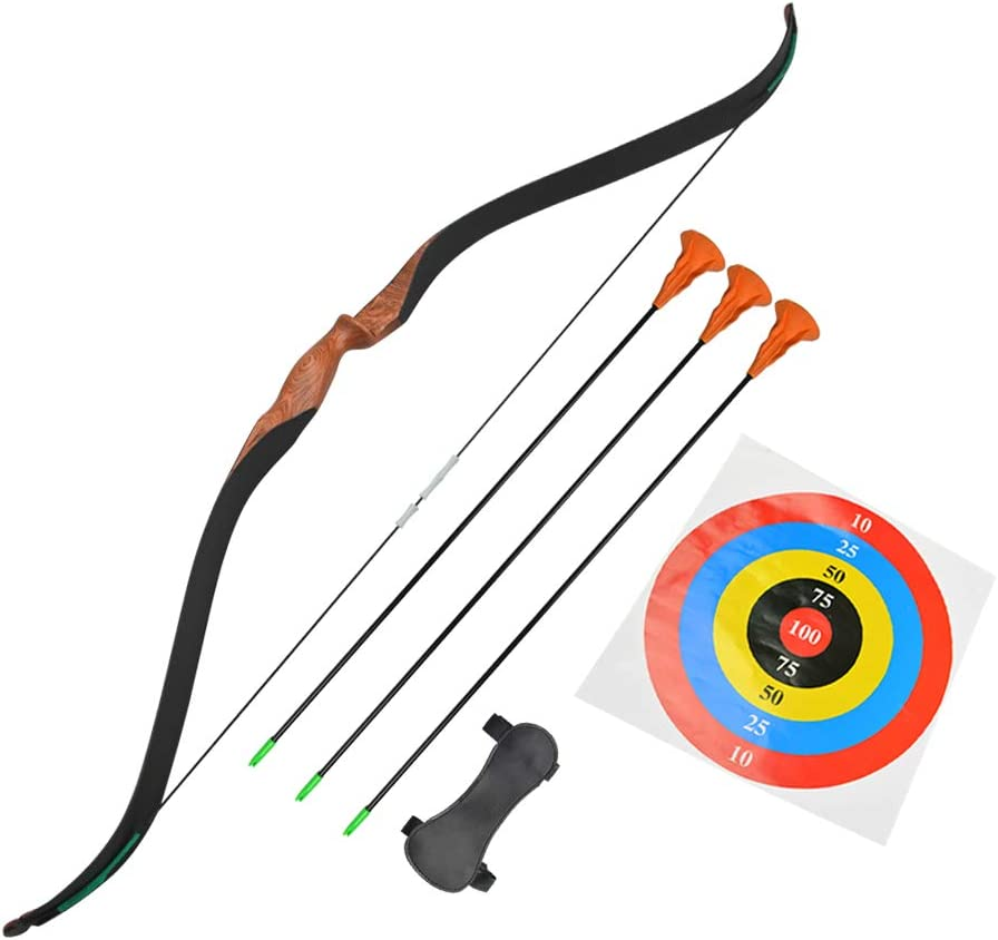 MILAEM Outdoor Youth Recurve Bow and Arrow Set Children
