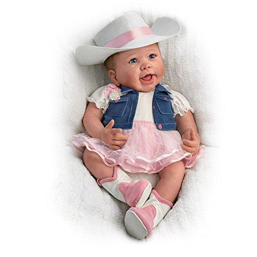 "18"" Linda Murray Poseable Lifelike Baby Doll in Country C..."