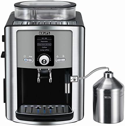 Krups EA8050 - Cafetera (Independiente, Totalmente automática, Espresso machine, Granos de café, De café molido, Negro, Plata, Café expreso): Amazon.es: Hogar