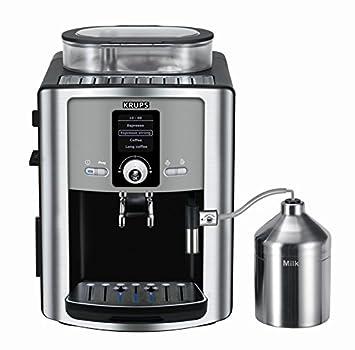 Krups EA8050 - Cafetera (Independiente, Totalmente automática, Espresso machine, Granos de café, De café molido, Negro, Plata, Café expreso): Amazon.es: ...