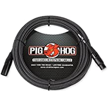 Shure Super 55 Deluxe Vocal Microphone & Pig Hog Black & White Woven Mic Cable, 20ft XLR - Bundle