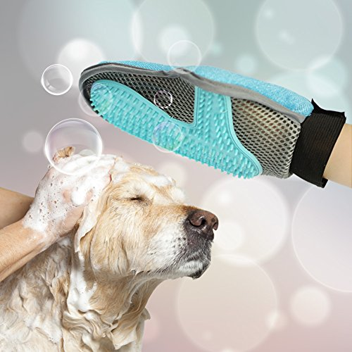 Pet Grooming Brush Glove Mitts Pet Deshedding Tool Pet Massage Brush Grooming Tool Pet Hair Remover Mitt for Long Short Hair Dogs Cats Bunnies Horses