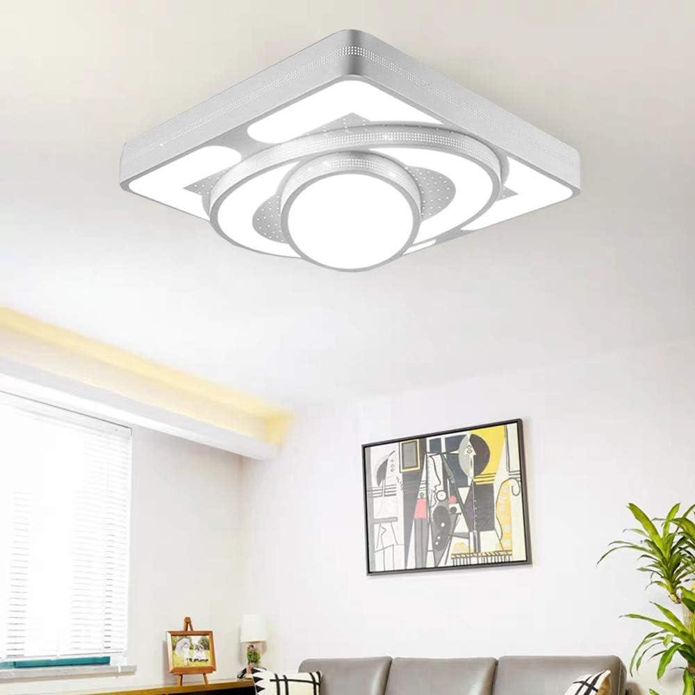 Plafon Regulable LED 48W Con Control Remoto dise/ño de nave espacial Dormitorio Cocina Oficina L/ámpara De Techo Blanco 48W Regulable