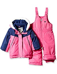 Girls Printed Heavey Weight Winter Coat and Snow Pants