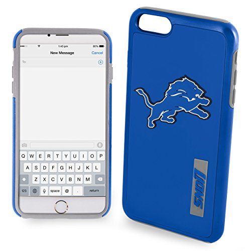 Forever Collectibles - Licensed NFL Cell Phone Case for Apple iPhone 6 Plus / 6s Plus - Retail Packaging - Detroit Lions