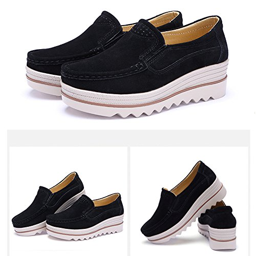 Espadrillas Donna HiTime Black slip on vwP4p4q