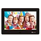 Advanced Digital Picture Photo Frame - 720P and Partial 1080P HD IPS Widescreen Eletronic Picture Frame Advertising Player with Calendar/Clock/Remote Control Black 7-inch