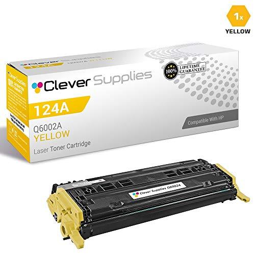 CS Compatible Toner Cartridge Replacement for HP CM1017mfp Q6002A Yellow HP 124A 1600 2600 2600N 2600DN 2605 2605DN 2605DTN CM1015 CM1015MFP CM1017 CM1017MFP